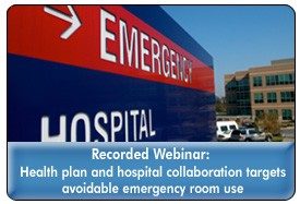 Reducing Avoidable Medicaid ER Visits With a Community Partnership Approach, a 45-minute webinar on May 9, 2012