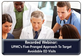 Identifying, Engaging and Breaking Down Patient Barriers To Reduce Avoidable ED Use, a 45-minute webinar on June 6, 2012, now available for replay